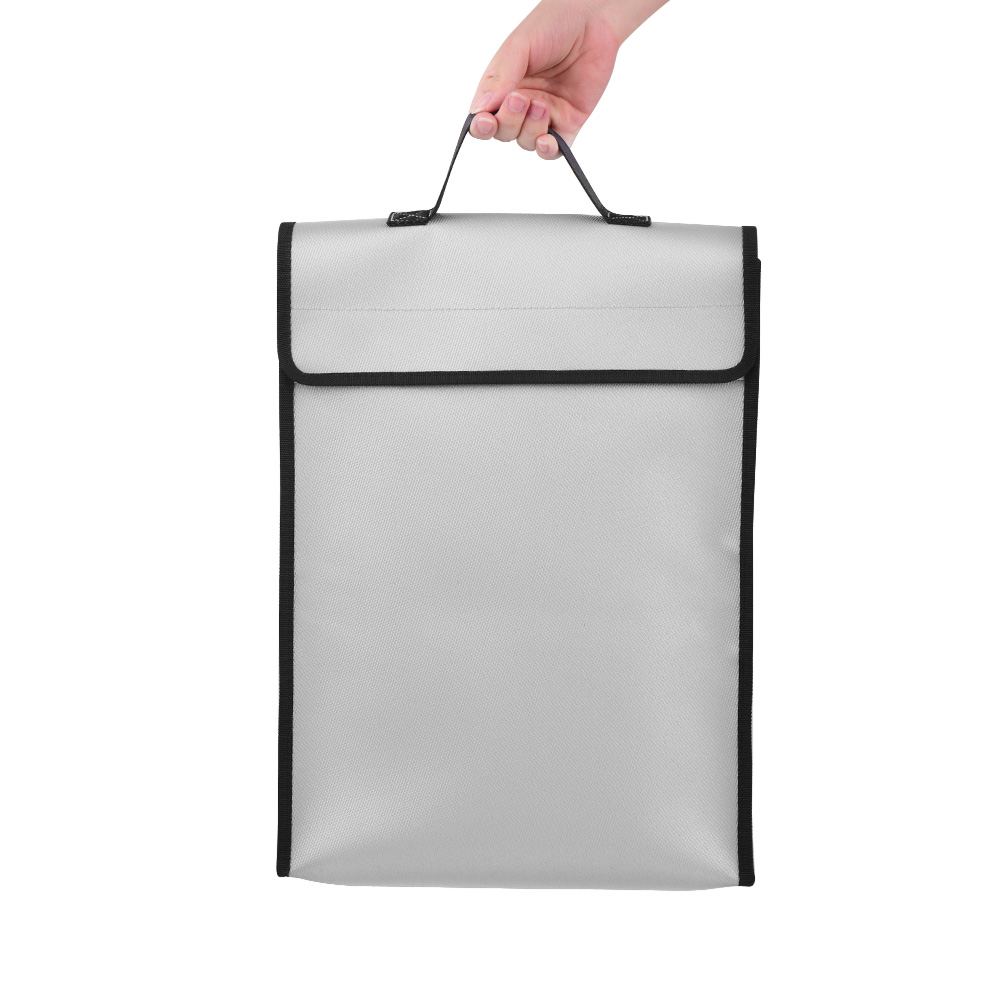 Image 2 - Fireproof Document Bags Waterproof Liquid Silicone Material Heat Insulation 1200℃ Fire Resistant Safe Bag for File Cash PassportFile Folder   -