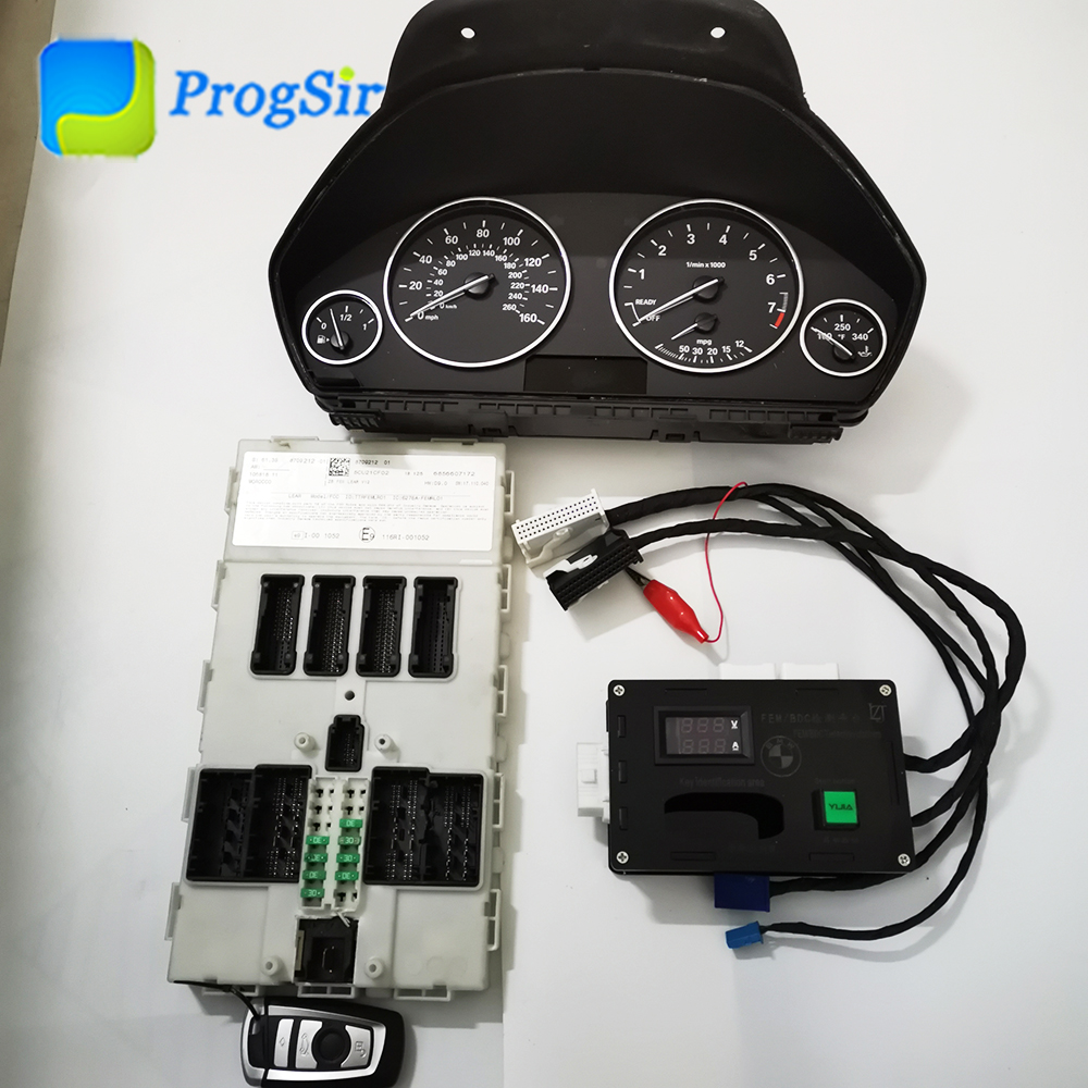 9383687 9387262 FEM BDC Test Platform Full Set With Dash Board For BMW & 434MHz Remote Control For BMW To Make Job On Bench