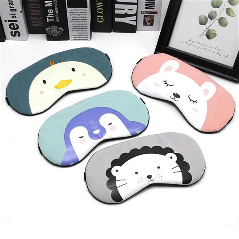 1 Pc New Cute Cartoon Animal Sleep Eyeshade Mask Rest Travel Massage Relax Eye Sleeping Aid Blindfold Cover Eye Patch