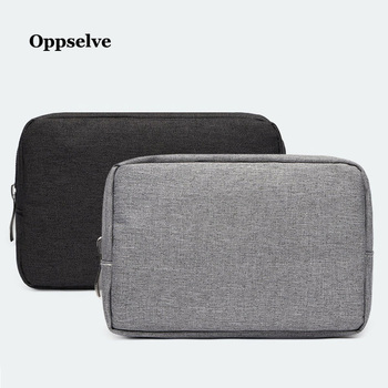 Oxford Cloth Portable Storage Organizer Bag Shockproof Earphone Bag Charger Powerbank Digital USB Data Cable Sorting Phone Pouch image