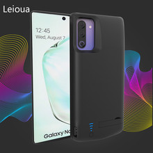 Leioua Smart Battery Case for Samsung Galaxy note10 5000mAh Accumulator for Samsung Galaxy note 10 Pro Battery Case with holder