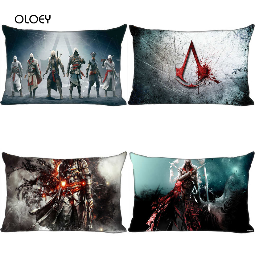 Cool Fighter Polyester Square Pillow Case Home Bedroom Hotel Bed Car Seat Decorative Cushion Cover Soft And Comfortable 30x50cm.