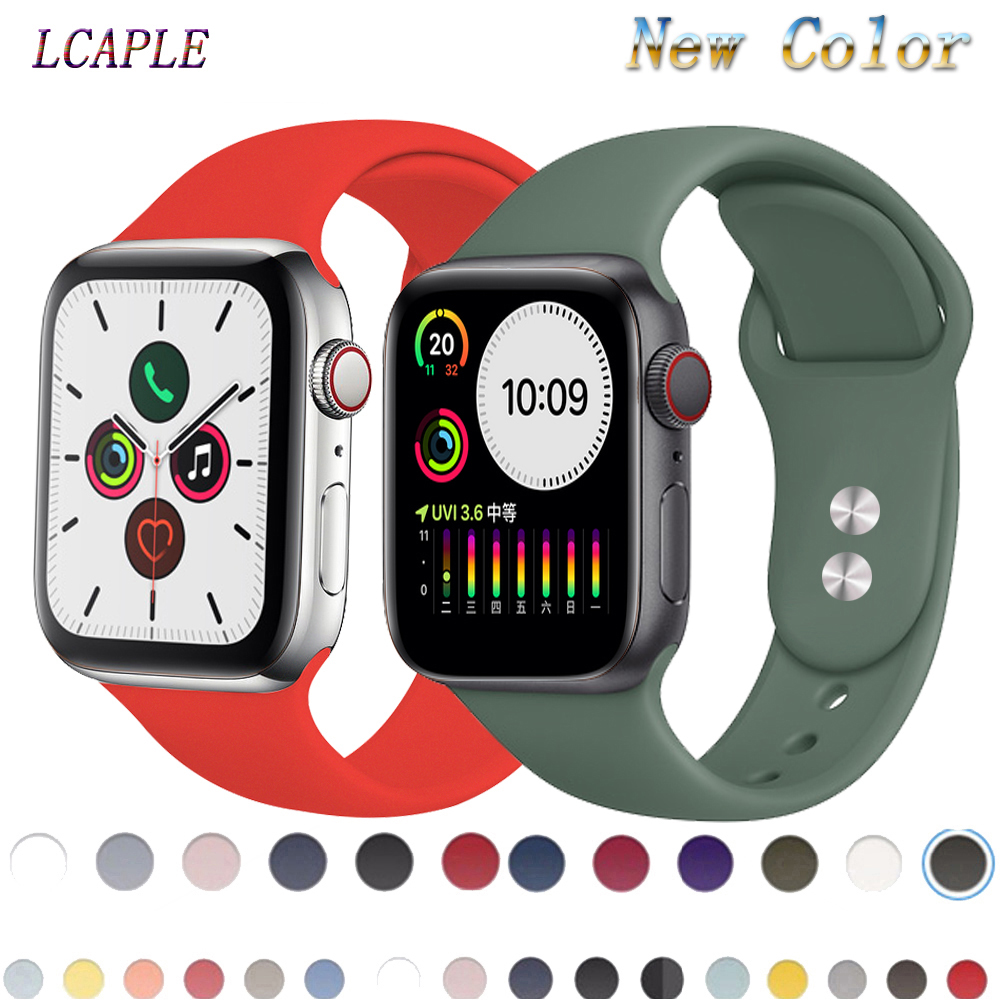 Strap For Apple Watch Band Apple Watch 5 4 Band 44mm 40mm Iwatch Band 3 2 Correa 42mm 38mm Silicone Pulseira Bracelet Watchband