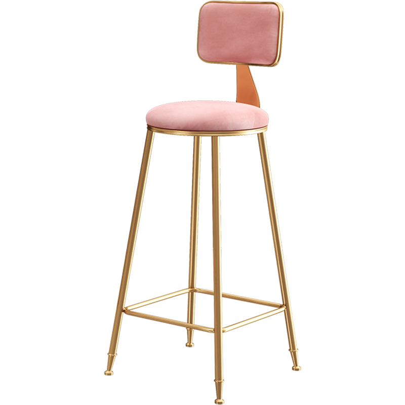 Bar Chair Simple Iron Bar Dining Chair Modern Cafe Leisure High Stool Nordic Wind Home Bar High Chair