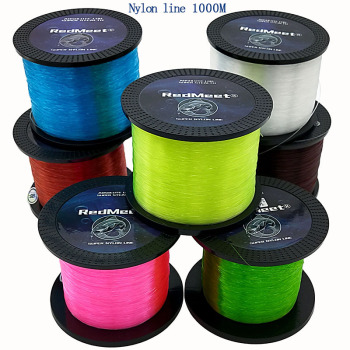 Amazing Original 100% RedMeet Nylon Fishing Line Super Strong Fishing Lines cb5feb1b7314637725a2e7: Black|Brown|Dark Green|Fluorescent green|Fluorescent yellow|Orange|Pink|Sky blue|White|Wine red