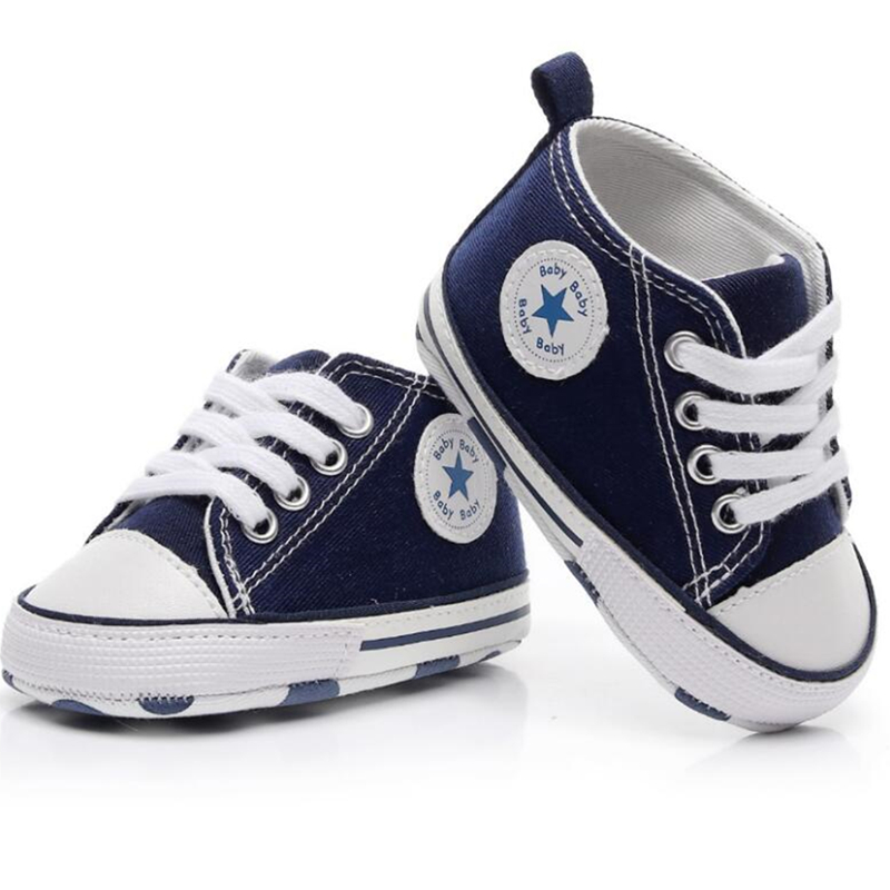 New Canvas Baby Sneaker For Girls Boys Newborn Shoes Baby Walker Infant Toddler Soft Sole Anti-slip First Walkers Sport Shoe
