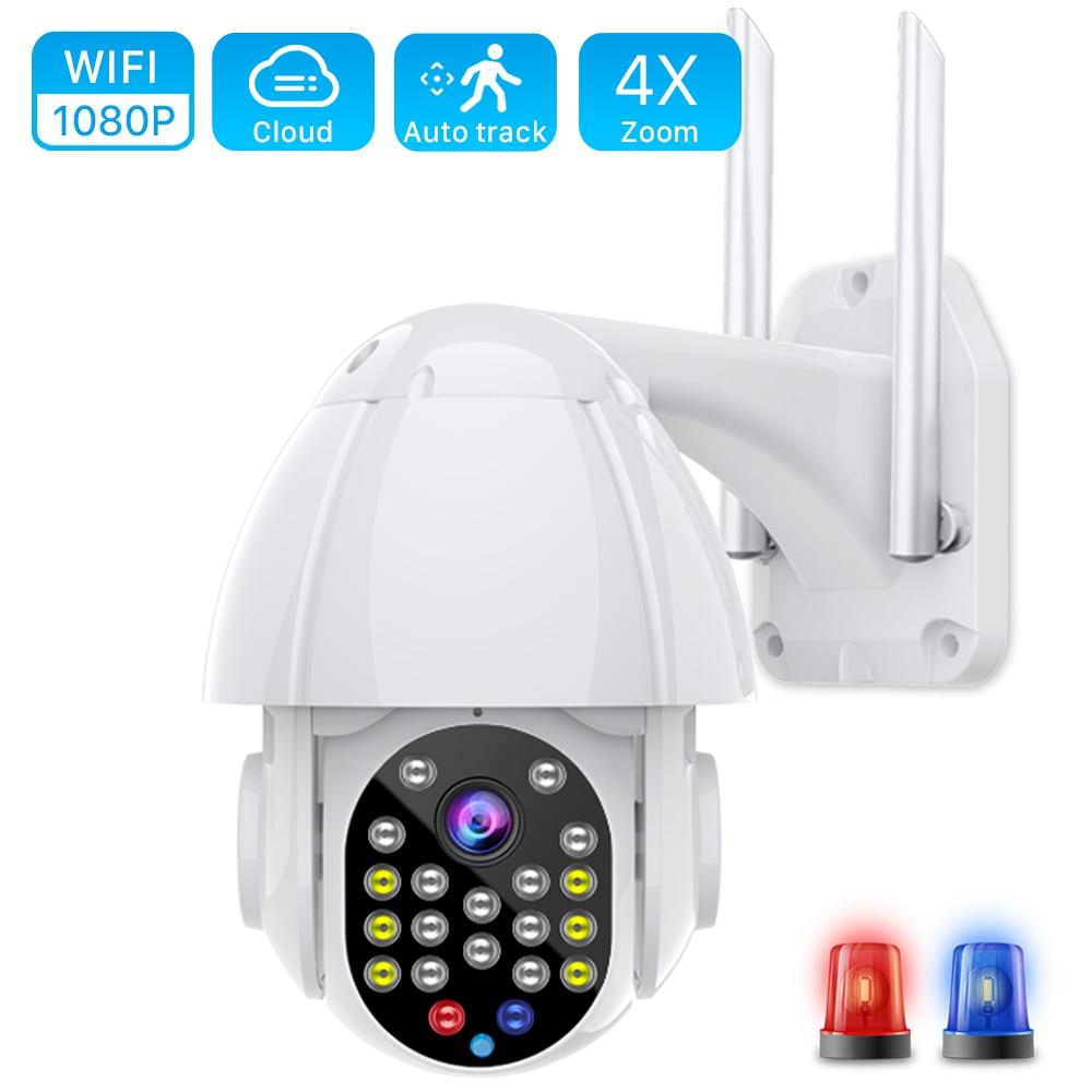 Caméra de surveillance dôme extérieure PTZ IP Wifi Cloud hd 2MP/1080P, dispositif de sécurité sans fil, avec suivi automatique, sirène et alarme, application YCC365