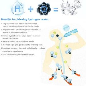 Image 5 - مولد الهيدروجين كوب تصفية المياه 430 مللي صانع القلوية الهيدروجين الغنية زجاجة محمولة المياه Lonizer النقي H2 التحليل الكهربائي