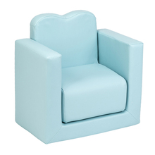 2IN1 Children Sofa Multi-Functional Sofa Table and Chair Set Sky Blue 49*32*39cm