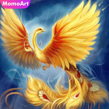 MomoArt Diamond Painting Phoenix Fantasy Mosaic Full Drill Square Embroidery Animal Home Decoration