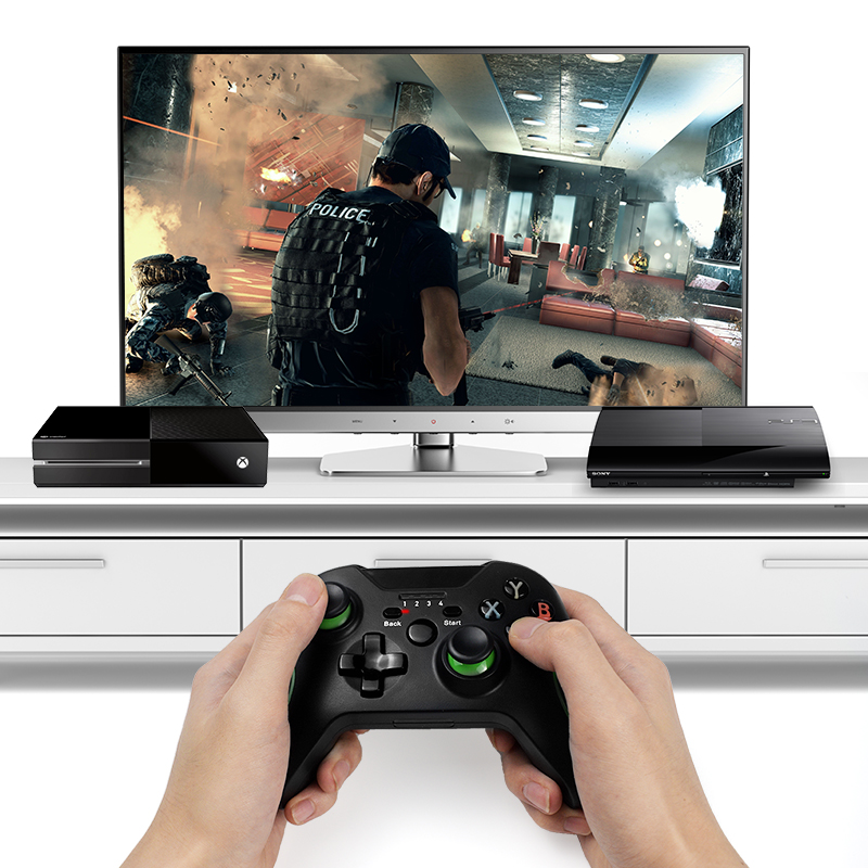 DATA FROG 2.4G Wireless Game Controller Joystick For Xbox One Controller For PS3/Android Smart Phone Gamepad For Win PC 7/8/10 2
