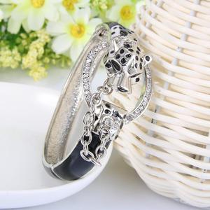Image 2 - Tuliper браслет pantera bransoletka dla kobiet Leopard bransoletki браслеты женские zwierząt kryształ Party biżuteria prezent 팔찌 koreański indyjski