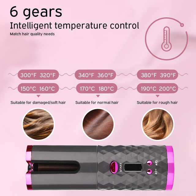 Wireless Curling Iron for Hair 5