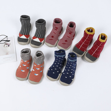 Socks Walking-Sneakers Shoes Infant Girls Baby Boys Children Red Kid Indoor Black Floor