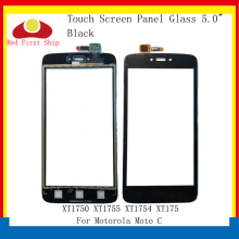 цена на 10Pcs/lot Touch Screen For Motorola Moto C XT1750 XT1755 XT1754 XT175 Touch Panel Digitizer Sensor Front Outer LCD Glass Lens