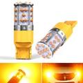 2 шт. 3200lm Янтарный T20 7440 7440NA WY21W 1156 BA15S BAU15S светодиодный Canbus Нет Hyper Flash встроенный резистор сигнала поворота светильник желтый