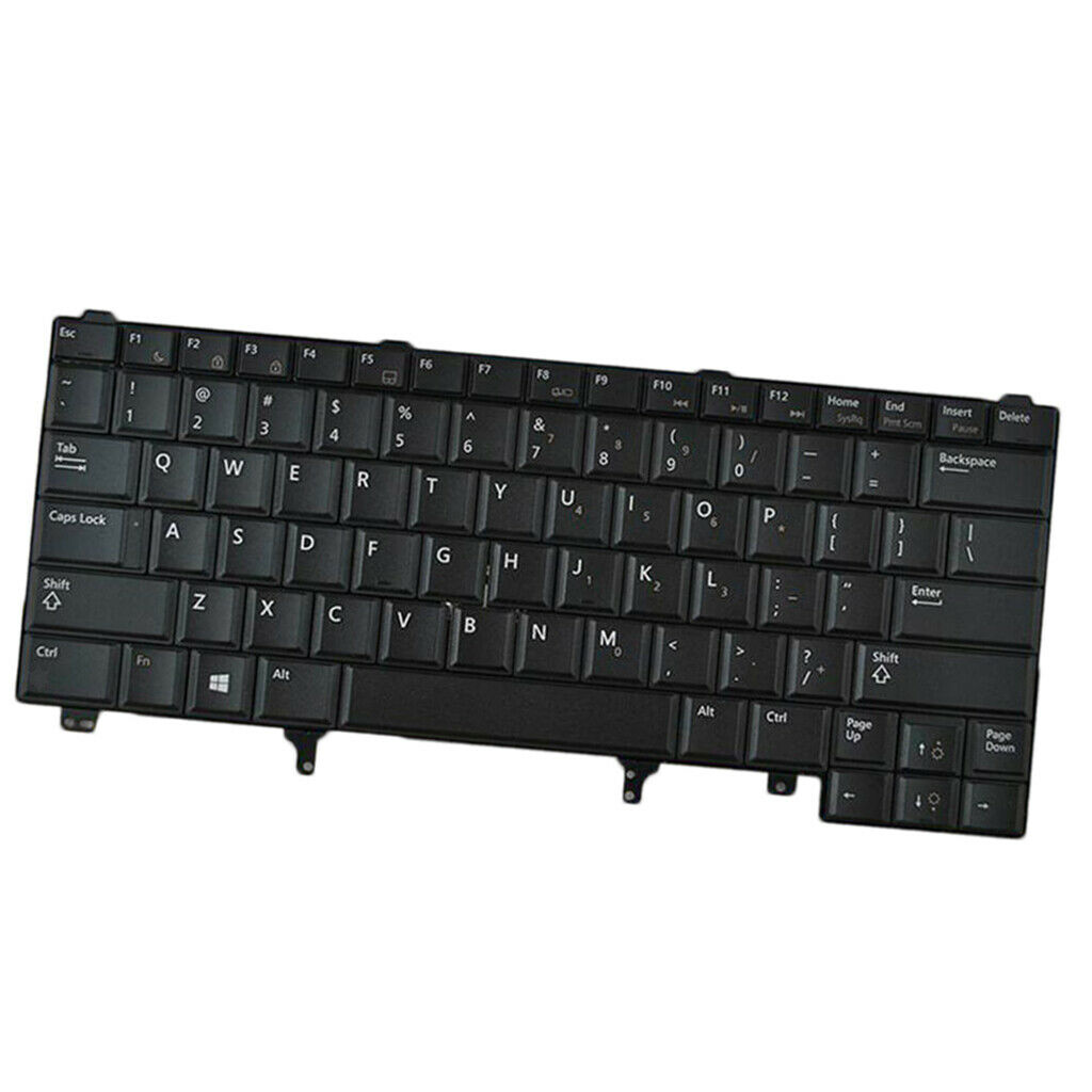 New Black Plastic US Laptop <font><b>Keyboard</b></font> for <font><b>Dell</b></font> <font><b>Latitude</b></font> E6420 <font><b>E5420</b></font> E6220 image