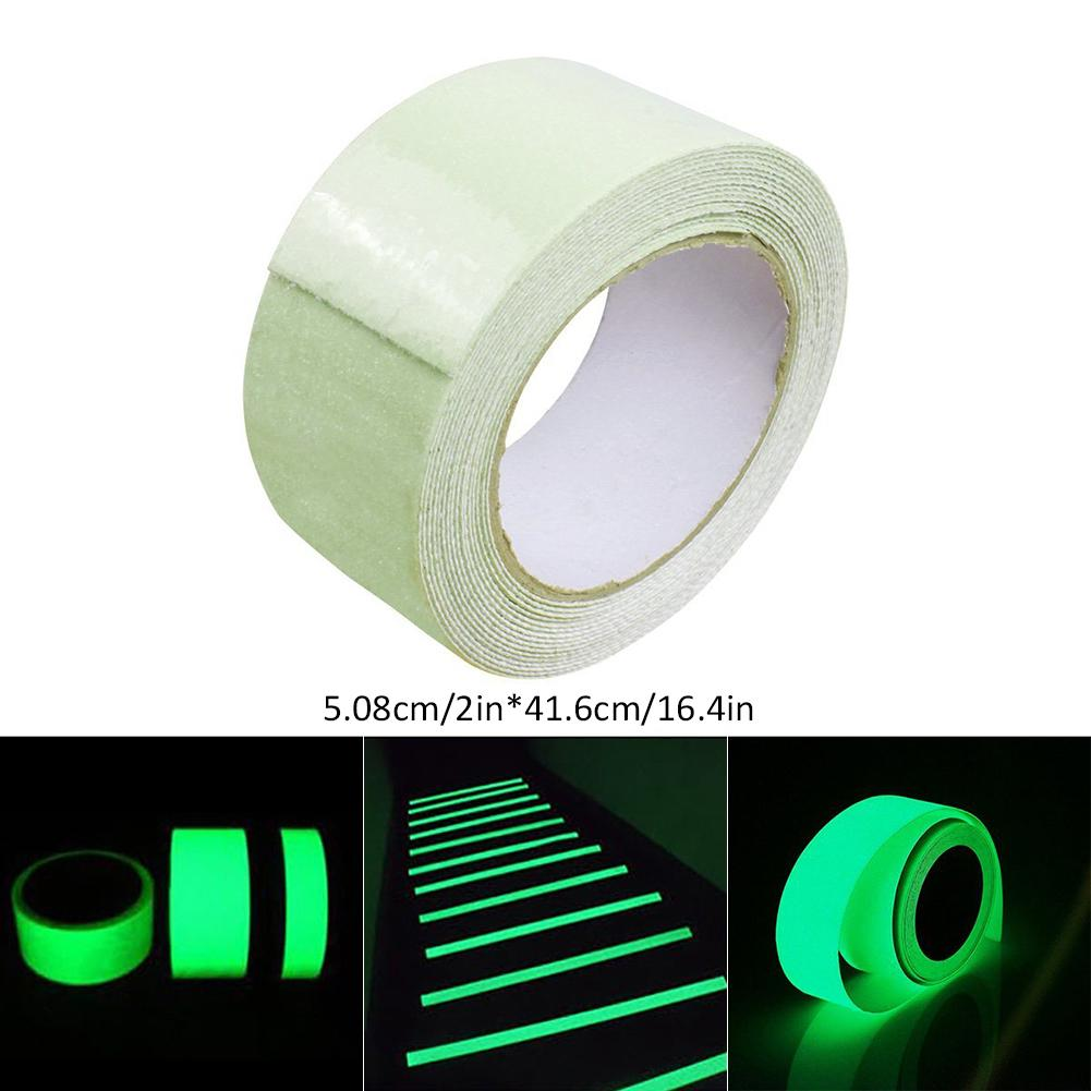 New Luminous Tape Self-illuminating Luminous Strips Stage Decorative PET Luminous Tape Fluorescent Light-storing Anti-slip Tape image