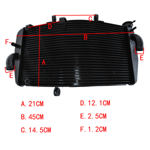 For CBR900 CBR929 RR CBR900RR CBR929RR 2000 2001 Motorcycle Radiator Replacement Parts New Performance Aluminium Cooling Cooler(China)
