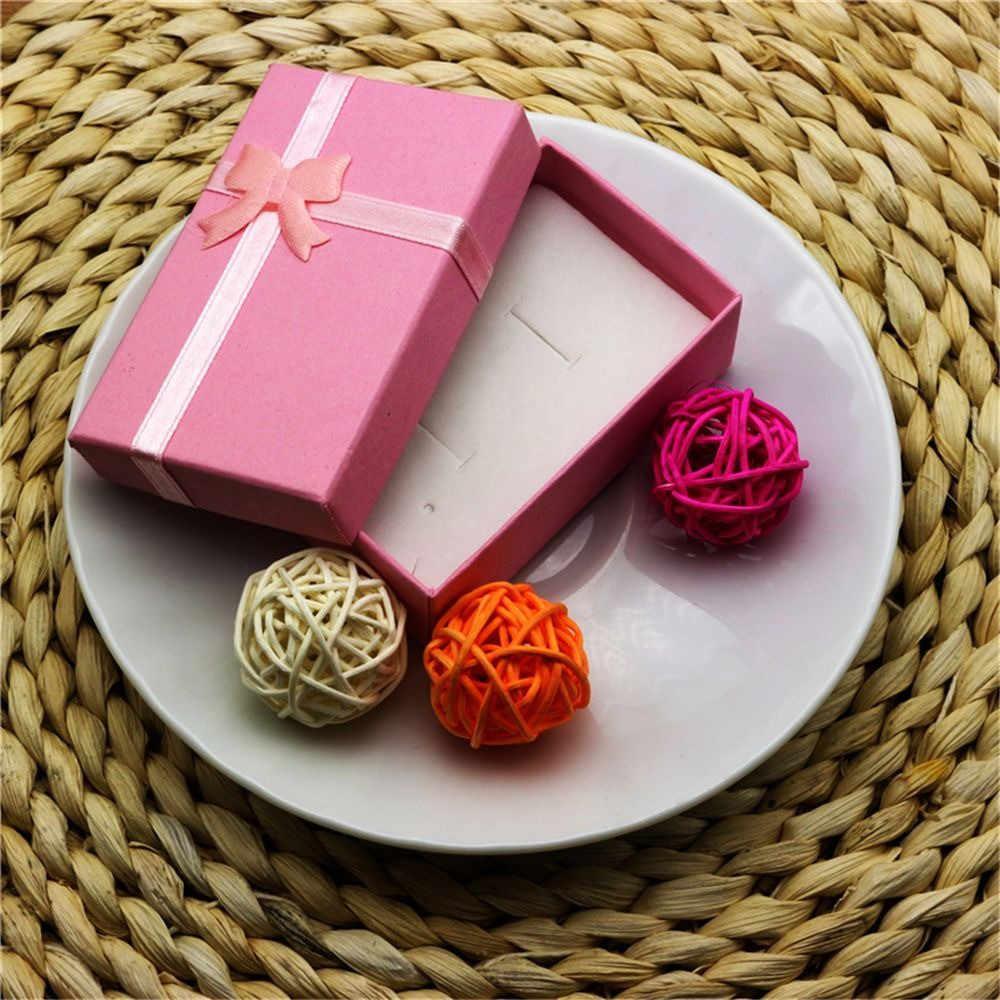 Romântico caixa de jóias presente pingente caso de exibição para brinco colar anel relógio beleza caixa de jóias