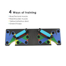Rack Training-Board Muscle-Trainer Push-Up Home for Body-Building Workout Exercise 9-In-1