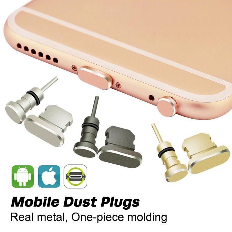 FONKEN Puerto conector de auriculares 3,5mm AUX Dust Plug para teléfono coche ordenador portátil con Pin eyector Micro USB tipo C puerto de carga consejos