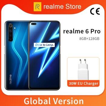 Перейти на Алиэкспресс и купить Глобальная версия realme 6 Pro, 8 ГБ, 128 ГБ, 6,6 дюйма, 90 Гц, полноэкранный процессор Snapdragon 720G, Восьмиядерный процессор, 64 мп, AI Quad Camera, аккумулятор 4300 м...