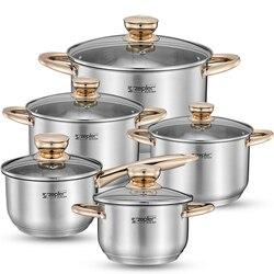 1 шт. кастрюли и сковороды индукционные высококлассные кастрюли Frypan кастрюля Inox набор кухонной посуды набор кухонных инструментов
