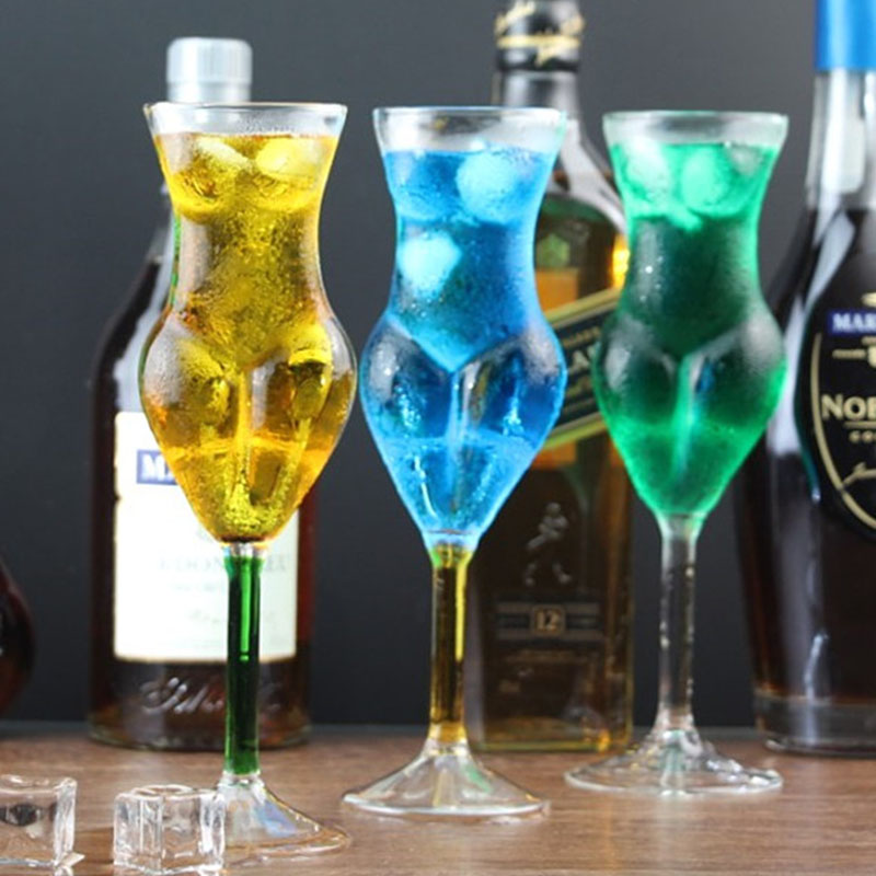 Creative clair rouge vin lunettes Sexy 3D femmes corps cristal Whisky tasse gobelet bière tasses fête Bar KTV Champagne Cocktail vin coupe