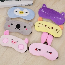 цены Sleep Eye Mask Cartoon Sleeping Mask Plush Eye Shade Cover Eyeshade Relax Unicorn Cat Rabbit Suitable for Travel Home Party Gift