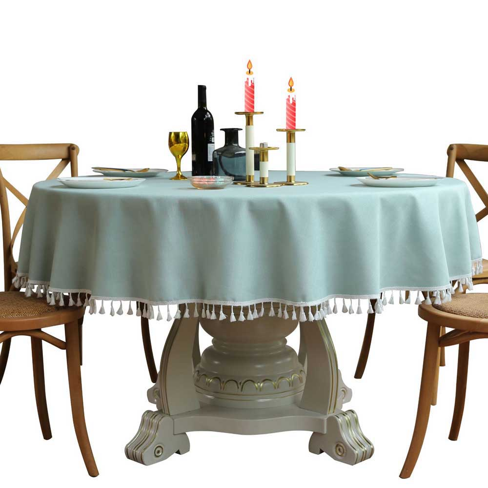 Round Wedding Linen Mariage Tablecloth For Wedding Hotel Table Cloth Table Cover Overlay Tapetes Nappe Tablecloths