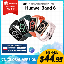 Браслете Huawei Band 6 Smartband глобальная версия уровень кислорода в крови LED экраном сердечного ритма трекер Мониторинг сна Smartband
