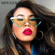 2019 luxury Cat Eye One Lens Half Frame Sunglasses Men Women Fashion UV400 Glasses European and American popular sunglasses