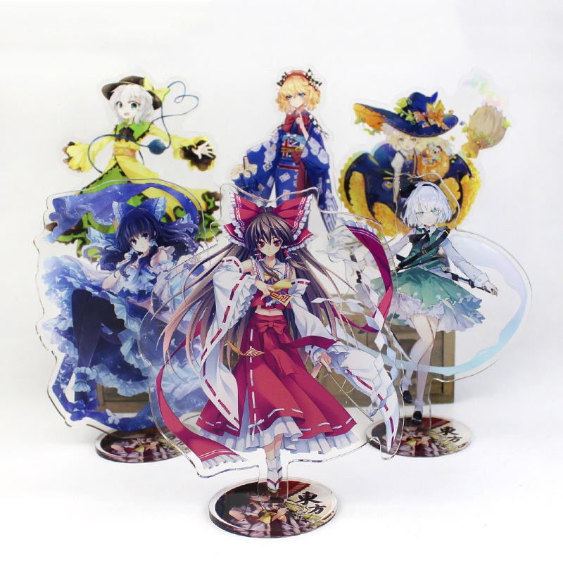Touhou Project Display Stand Figure Model Plate Holder Japanese Cartoon Game Figure Acrylic Collection Jewelry Christmas Gift