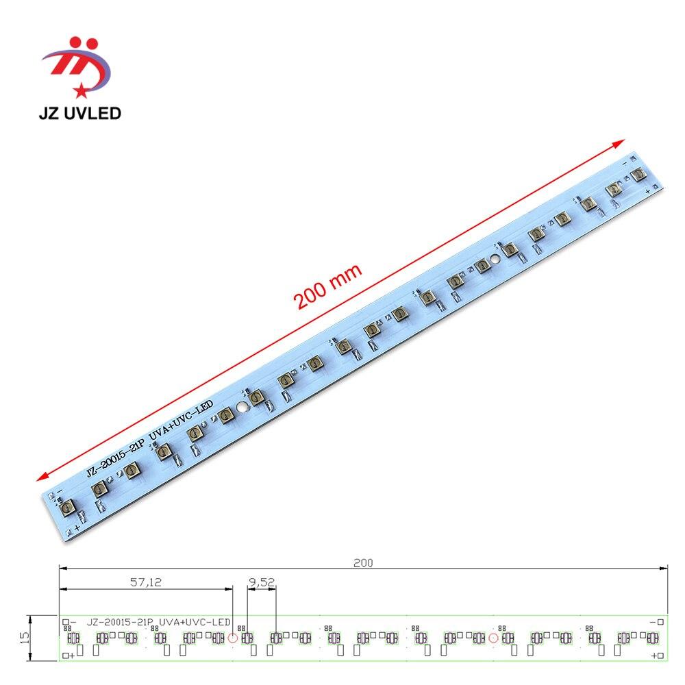 275nm 21 Pcs Uvc Led Dc 24V per Il Fai da Te Uvc Disinfezione Lampade con Usb Power Supply Board Profondo Uvc ha Condotto La Luce Ultravioletta Sterilizzazione