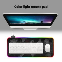 LED Desktop Mouse Pad Rubber Computer Notebook Gaming Mouse Mat Anti-slip Laptop Mousepad Mouse Pads new arrival slim elegant anti slip aluminum alloy computer gaming mouse pad mat mousepad