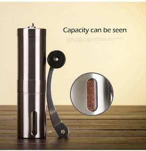 Image 4 - Manual Coffee Grinder Coffee Maker ceramics Core 304 Stainless Steel Hand Burr Mill Grinder Ceramic Corn Coffee Grinding Machine