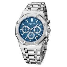 2021 Venta caliente para hombres relojes de marca TACTO deportes al aire libre relojes plata Chronograpgh de hombre relojes 30M resistente al agua