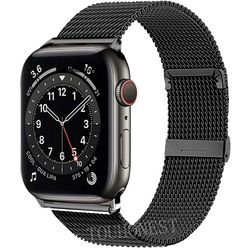 New Milanese Strap For Apple Watch 6 5 4 38mm 42mm 40mm 44mm Stainless Steel Metal Replacement Bracelet Band for iwatch 1 2 3 SE