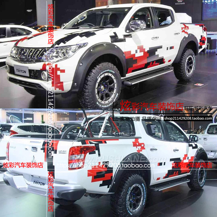 Car Sticker For Mitsubishi L200 Body Exterior Modified Sticker L200 Pickup Truck Sticker Film
