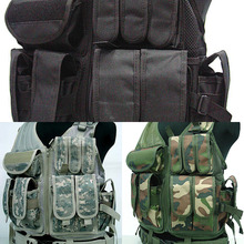 Tactical Vest MOLLE Nylon Combat Paintball Airsoft Vest Hunting CS Training Camouflage Vest military equipment tactical vest airsoft hunting molle vest for outdoor wargame army training paintball combat protective vest