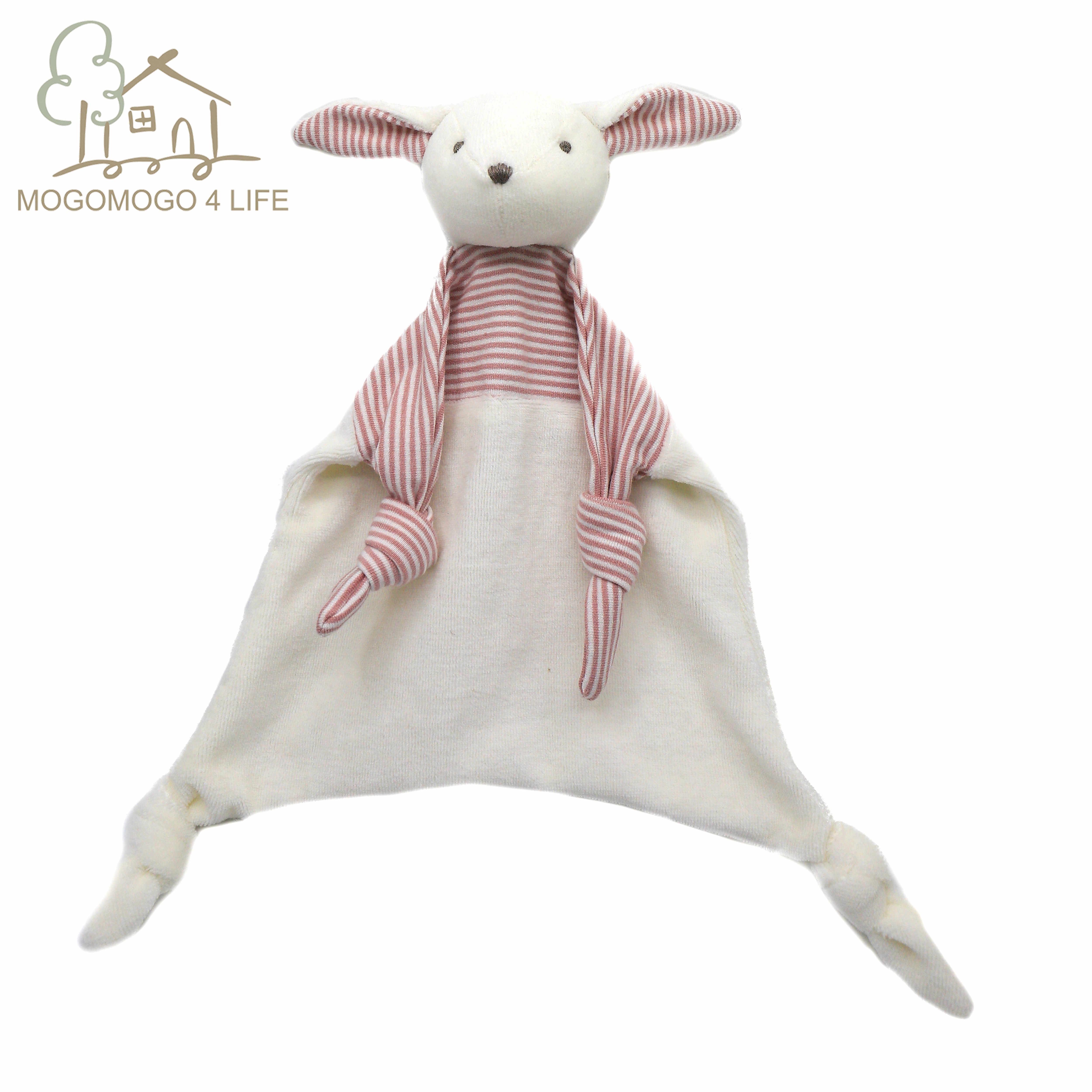 Luxus Baby Tröstlich Decke mit Bunny Plüsch Spielzeug Cartoon Baumwolle Weichen Quadratischen Baby Beschwichtigen Handtuch Sicherheit Decke für Neugeborene