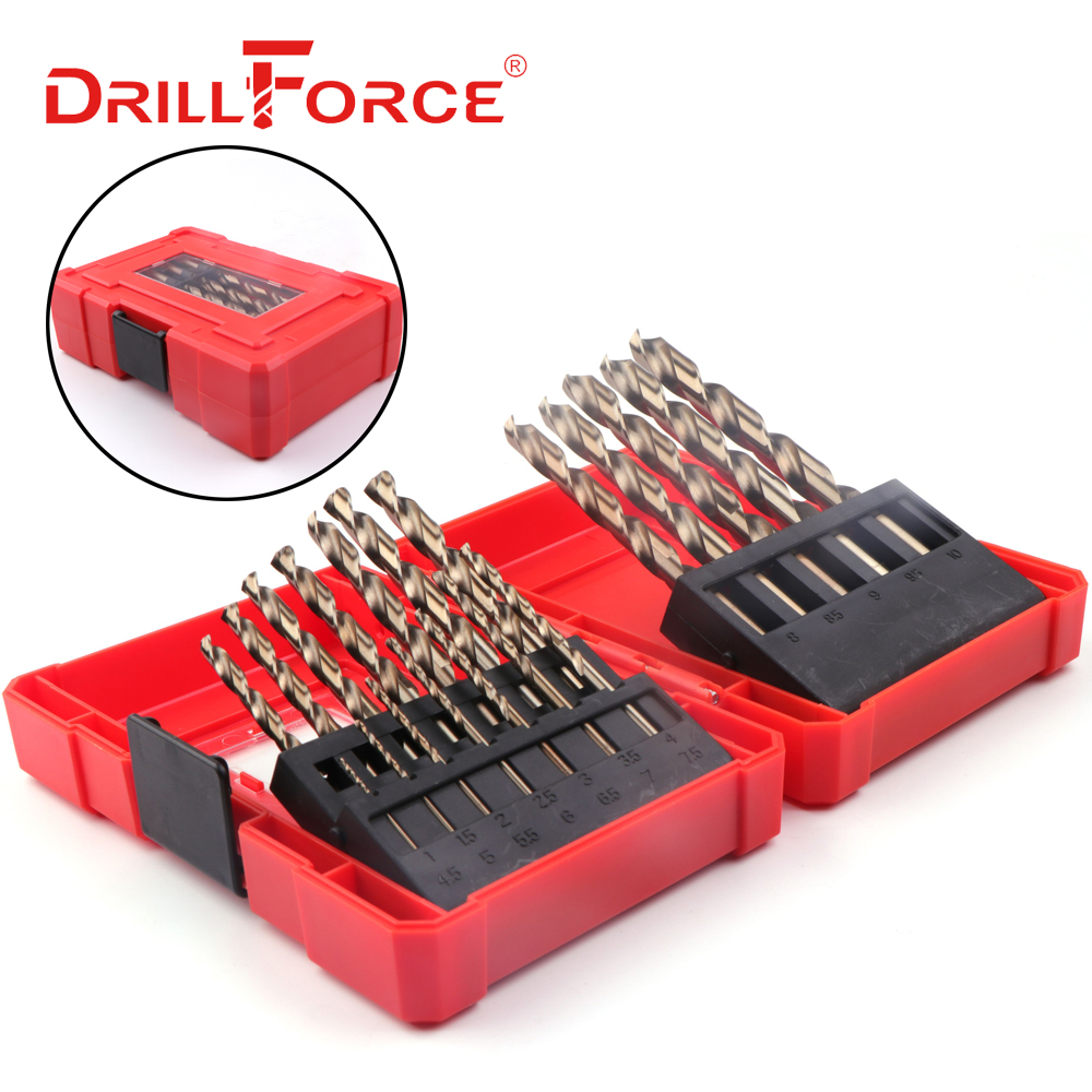 Drill Bit Set Tool 25 PCS High Speed Steel 1-13mm Abrasion Resistant M35