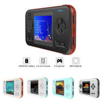 Novo handheld gamepad console máquina de jogos com 8000 mah power bank bull-in 416 jogos clássicos jogo jogador brinquedos para o presente das crianças