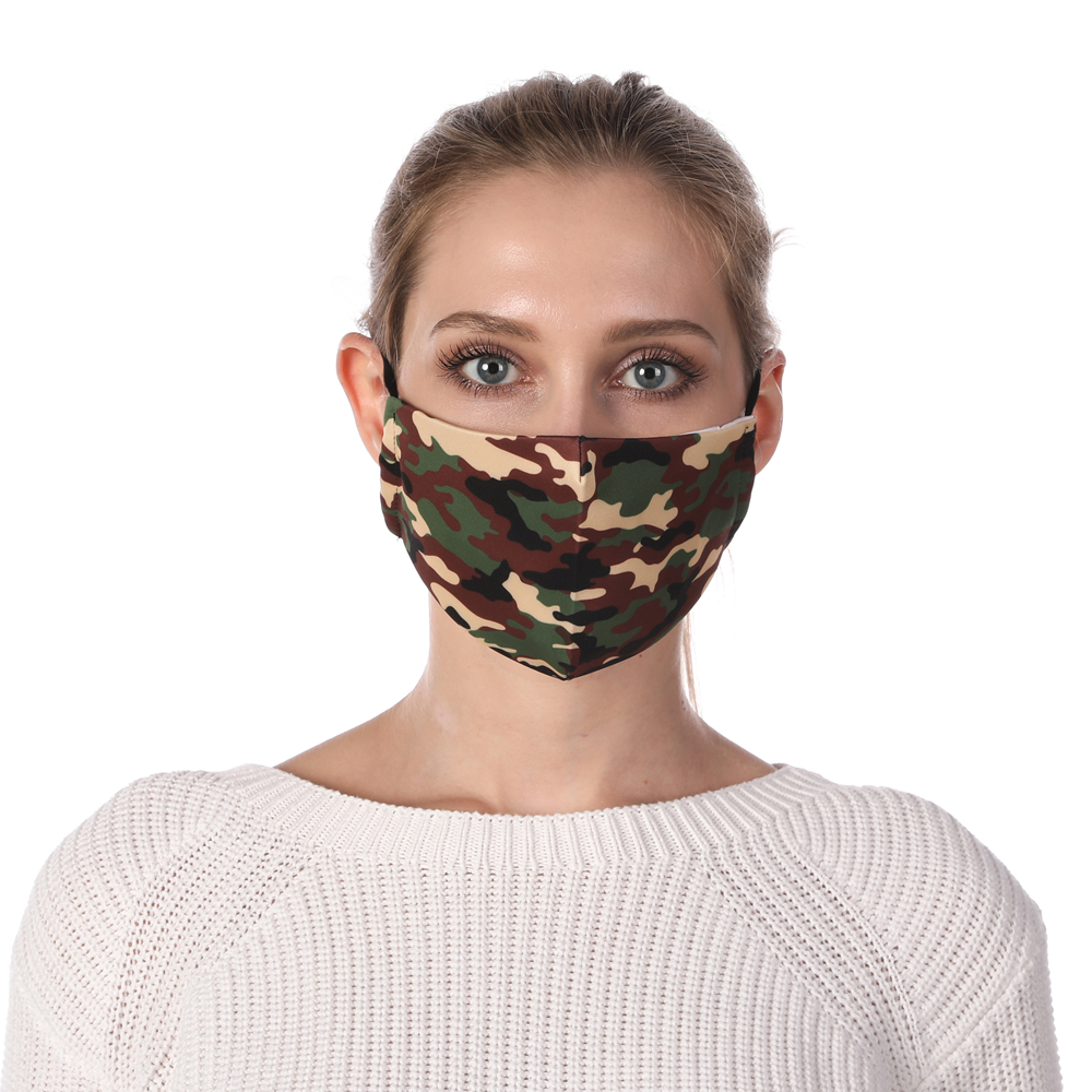 Zohra Camouflage Printing Reusable Protective PM2.5 Filter Mouth Mask Anti Dust Mask Windproof Adjustable Face Masks