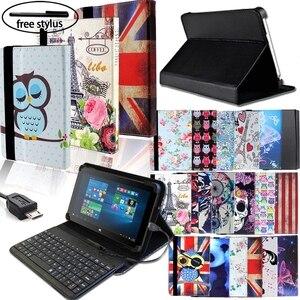 Кожаный чехол-книжка для планшета, проводная клавиатура, подходит для Linx 7/8/10 дюймов, удобный чехол для планшета + Проводная клавиатура