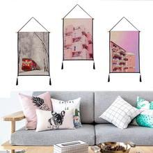 Beautiful scenery tapestry hanging print decorative paintings household textile custom polyester 45cm*65cm