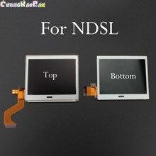 1x למעלה תחתון LCD תצוגת מסך עבור Nintendo NDS DS Lite N DSL משחק קונסולת תחתון למטה LCD מסך עבור ND SL NDSL החלפת