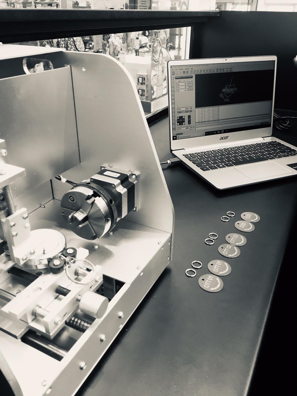 MPX 90 ženklinimo žiedo graviravimo mašina gravograph m20 AM30 - Medienos apdirbimo įranga - Nuotrauka 3