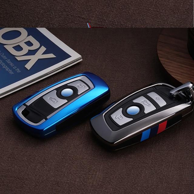 Fashion ABS Carbon fiber Car Remote Key Case Cover For BMW 1 2 3 4 5 6 7 Series X1 X3 X4 X5 X6 F30 F34 F10 F07 F20 G30 F15 F16